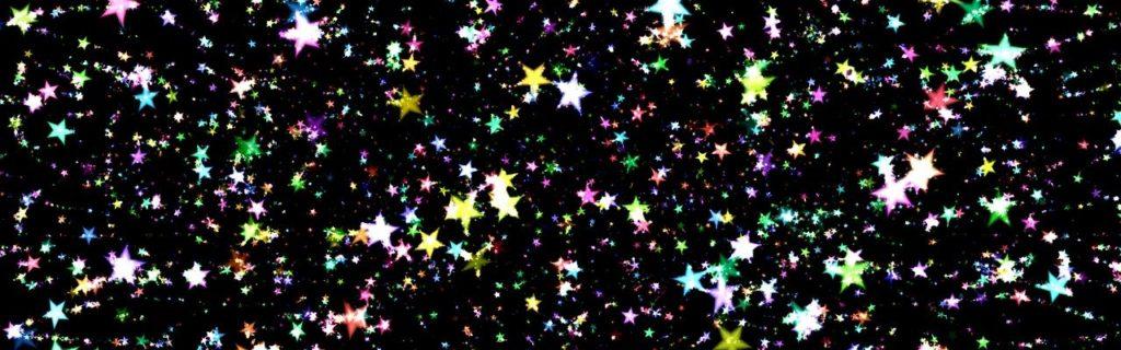 Weihnachten-header bunte Sterne